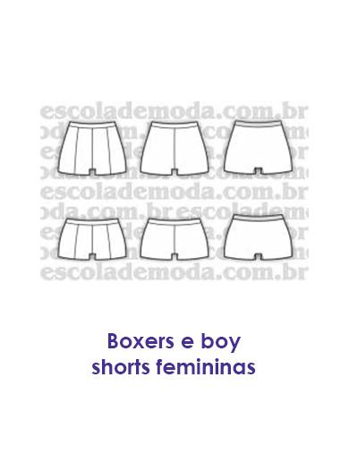 ad607db85 Moldes de boxers e boy shorts feminino - moda íntima
