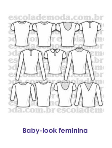 f0300082c5 Moldes de camisetas baby look femininas
