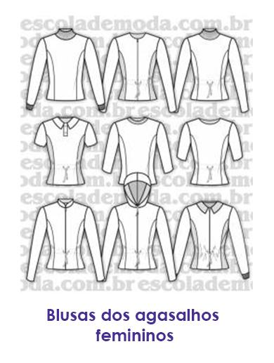 575a576d03f Moldes de blusas, camisas, blazers, batas, regatas, calças, saias e ...