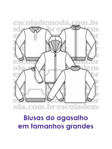 Moldes de blusas do agasalho plus size